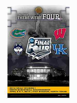 2014 Official NCAA March Madness Final 4 Teams Logos Basketball Print Poster