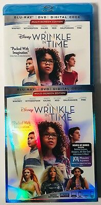Disney A Wrinkle in Time Blu-ray-DVD-Digital BRAND NEW FACTORY SEALED