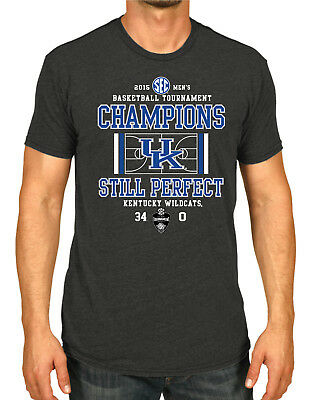 Kentucky Wildcats 2015 SEC Tournament Basketball Champions Gray T-Shirt