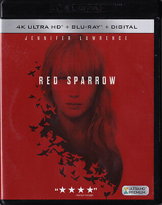 Red Sparrow 4K Ultra HD - Blu-ray - Jennifer Lawrence - No DC