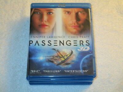 3D MOVIE BLU RAY PASSENGERS JENNIFER LAWRENCE CHRIS PRATT PROMO ARTWORK