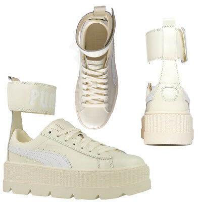 Puma Rihanna By Fenty X Ankle Strap Lace Up Womens Cream Trainers 366264 02  U3 3bbebe08ee
