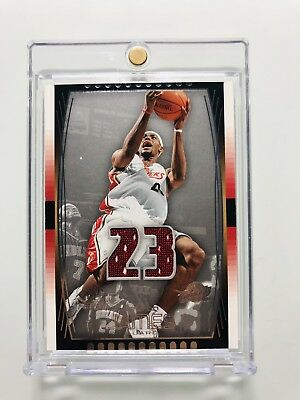 LEBRON JAMES 2004 SP GAME USED JERSEY 2nd YEAR
