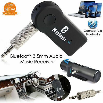 Wireless Bluetooth Receiver 3-5mm AUX Audio Stereo Music Home Car Adapter TO