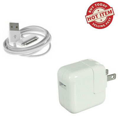 OEM 12W USB Power Adapter Wall Charger for Apple iPad2 3 4 Air - 30 Pin Cable