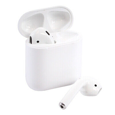 Apple AirPods In-Ear Wireless Bluetooth Headsets with Case MMEF2AMA - Authentic