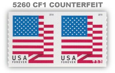5260 CF1 Pair Postal Counterfeit US Forever Flag Design of 2018 MNH - Buy Now