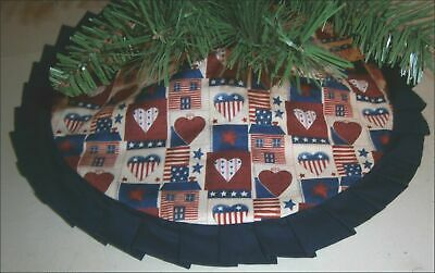 Fourth of July Tabletop Tree Skirt - 24 - Country Americana  Custom Made