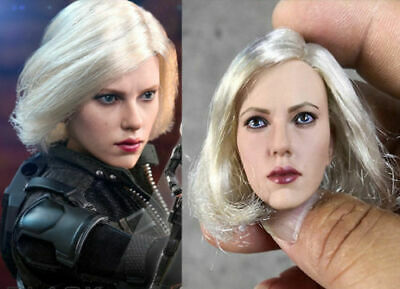 US 16 Black Widow Scarlett Johansson Blond Hair Head Sculpt F 12 Female Figure
