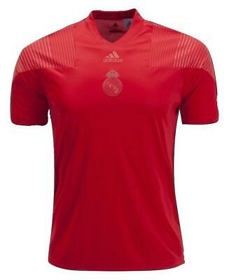 adidas Mens Soccer Real Madrid Icon T-Shirt Tee Jersey Top Vivid Red CW8704