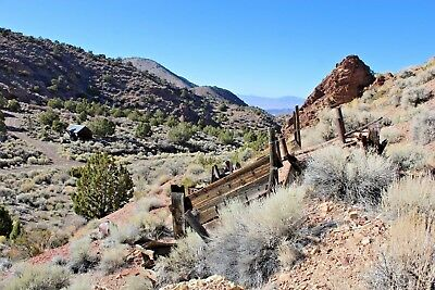 Gold Mine Pilot Mountains Mina Nevada Mining Silver Claim-Cabin-2Adits on Site