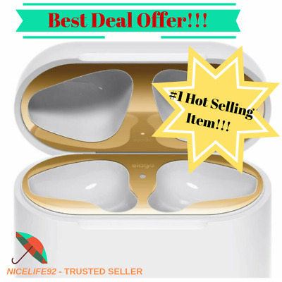 Dust Guard for AirPods Gold1 Set - 18K Gold PlatingProtect AirPods Elago