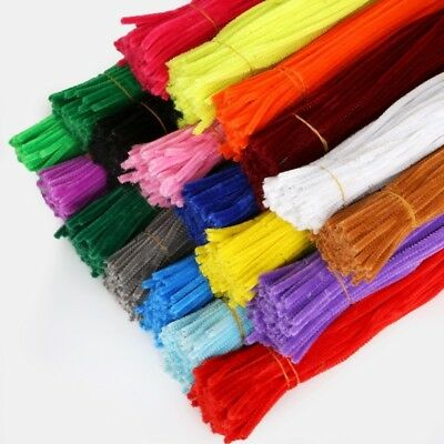 100Pcs 5mm Cleaner Toys Pipe Cleaners Children Plush Educational Toy Crafts Pipe