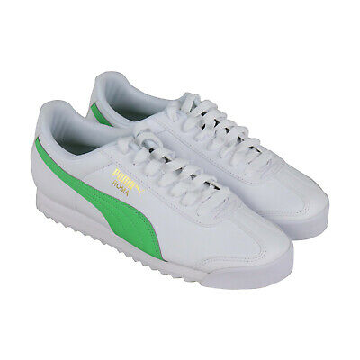 Puma Roma Basic - 36957102 Mens White Leather Classic Low Top Sneakers Shoes
