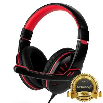 for PS4 Xbox Nintendo Switch PC Stereo 3-5mm Wired Gaming Headset BlackRed