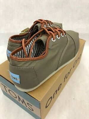 Toms Sage Tercel Canvas Mens Shoes Size 8-5 M Loafers Lace Up Casual Cordones