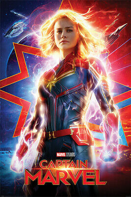CAPTAIN MARVEL MOVIE POSTER US Advance Version size 24x36
