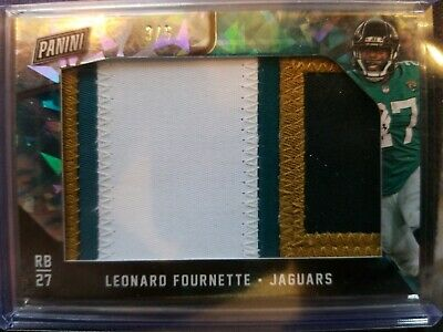 2018 Panini Black Friday Leonard Fournette 4 Color Patch 35