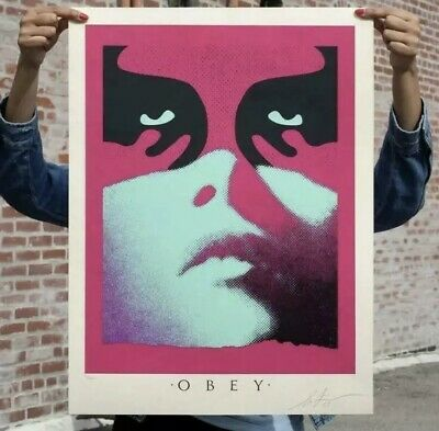 Obey Shepard Fairey Shadowplay Blue LE350 Print - Ready to Ship -