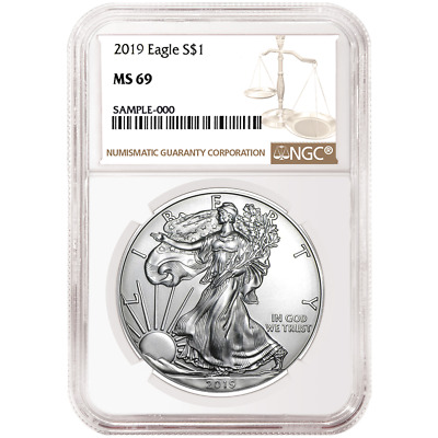 2019 1 American Silver Eagle NGC MS69 Brown Label