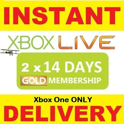 Xbox Live Gold 1 MONTH Membership D Code  2 x 14 DAY  Microsoft Xbox One  360