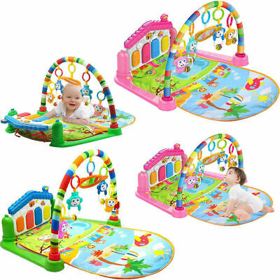 3 in 1 Baby Light Musical Gym Play Mat Lay - Play Fitness Fun Piano Boy Girls