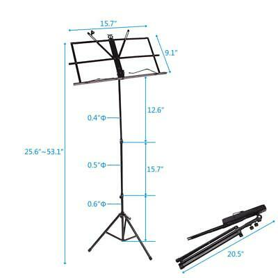Glarry Musicians Folding Music Stand with Bag