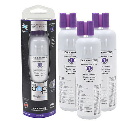 3 Pack EDR1RXD1 Whirlpool W10295370A Every Drop Refrigerator Water Filter 1
