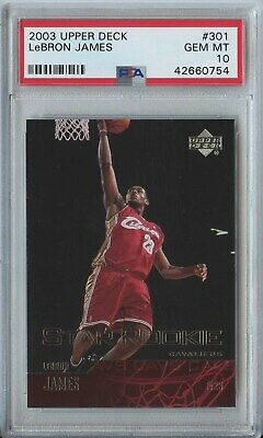 Lebron James 2003 04 UD Upper Deck Star Rookie 301 Cavaliers RC PSA 10