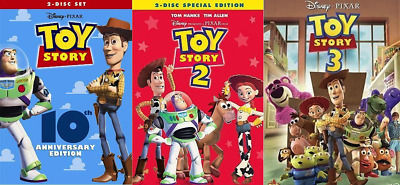 Toy Story I II - III Trilogy DVD Combo 123 1 2 3 - Brand New - Sealed