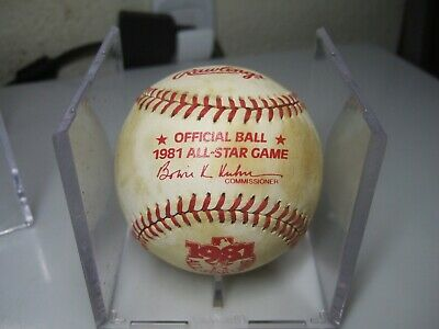 Vintage 1981 Official All Star Game Baseball Ball in Case