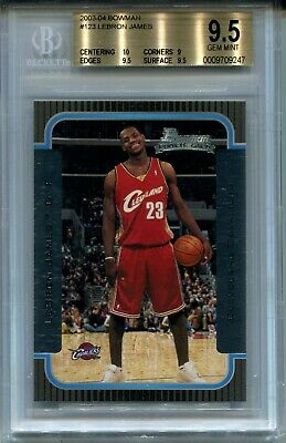 2003 Bowman Basketball 123 Lebron James Rookie Card RC BGS 9-5