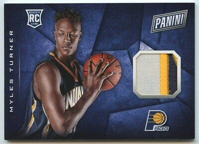 Myles Turner 2015 16 Panini cyber monday 20 Pacers RC rookie 3 color patch