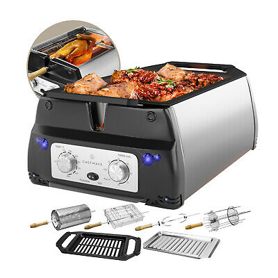 ChefWave 5 in 1 Smokeless Indoor Electric Grill - Rotisserie Infrared Technology