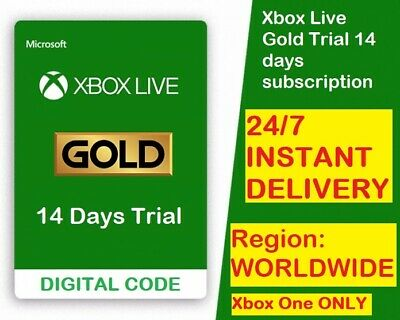 XBOX LIVE GOLD 14 DAY 2 WEEKS TRIAL CODE INSTANT DISPATCH 247 No Exp Date