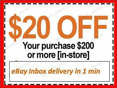 One1x Home Depot Coupon 20 OFF 200 InStoreOnly  lNSTANTFASTSENT-1min