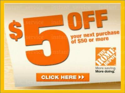 Two2x Home Depot Coupon 5 OFF 50 In-Store-Only  lNSTANTFASTSENT-1min