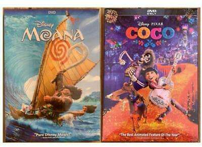 100 New MOANA And COCO 2dvd sets