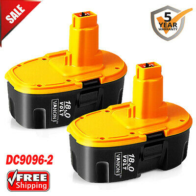 2 pack Upgraded 18 Volt for DeWalt DC9096-2 18V XRP Battery DW9095 DC9098 DC9099