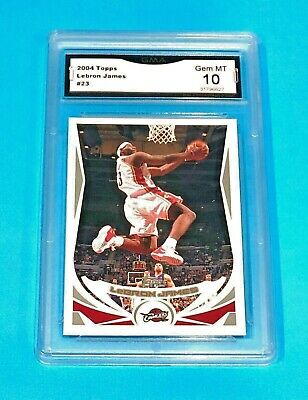 160 Lebron James Graded GEM MINT 10 Topps 2004 Basketball Lakers CAVS 23 S-S