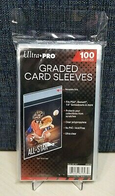100 Ultra Pro Graded Card Sleeves with Resealable Lip Fits PSABeckett -more
