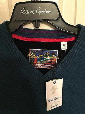 NWT Mens Robert Graham Bagley Sweater Size Small