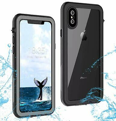 For Apple iPhone XS Max XR Waterproof Case Cover Fre Built-in Screen Protector