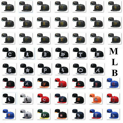 Camo Flat Brim MLB Game Team 59FIFTY Fitted Hat Adjustable Snapback Baseball Cap