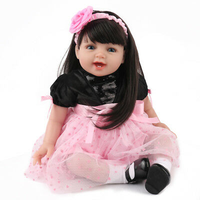 Lifelike Reborn Baby Doll Girl  22 Soft Vinyl Real Life Newborn Dolls Xmas Gift