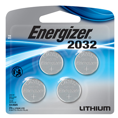 Energizer Batteries CR2032 240 mAh 3V Lithium Coin Cell  - 4-Pack Exp-032030