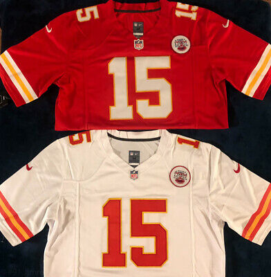 15 Patrick Mahomes Mens Jersey Red Home OR White Away Kansas City Chiefs Jersey