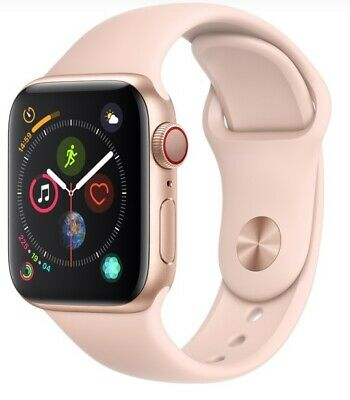 Apple Watch Series 4 40mm Gold Case Pink Sand Sport Band GPS - Cellular Used