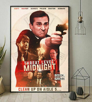 The Office TV Series Threat Level Mignight Clean Vertical Paper Poster No Frame