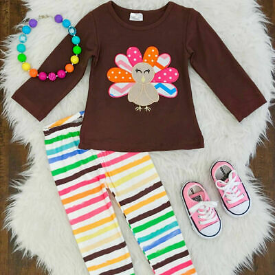 Thanksgiving Outfit for Kids Toddler Baby Girls Clothes Children Turkey Costume
